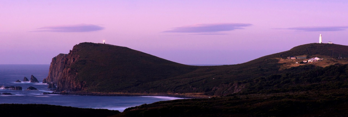 gallery/bruny island - cape bruny lighthouse dusk cropped
