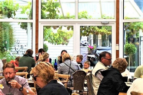 Families enjoying Cygnet Conservatory Cafe in Tasmania's Huon Valley